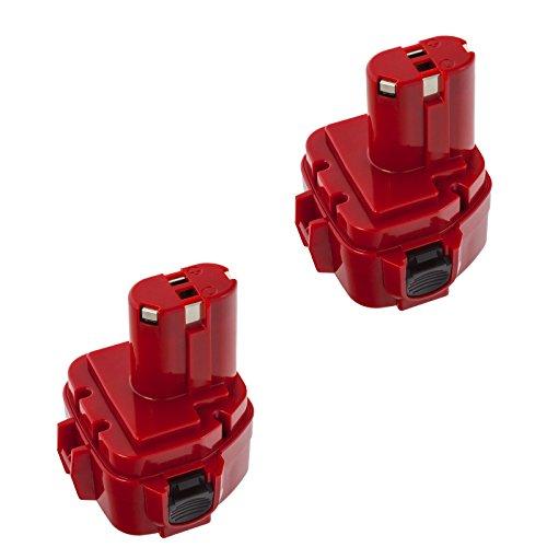 2x MTEC Werkzeugakku 3,0Ah 12V für Makita 1220 1222 1233 1234 1235 DA 312D ML 120 UC 120D