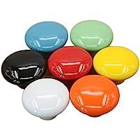 YULAN Manijas Redondas Puerta de la vendimia Colores Gabinete de Cocina Armario Armario Tiradores