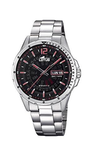 Lotus Watches Reloj Análogo clásico para Hombre de Cuarzo con Correa en Acero Inoxidable 18524/3
