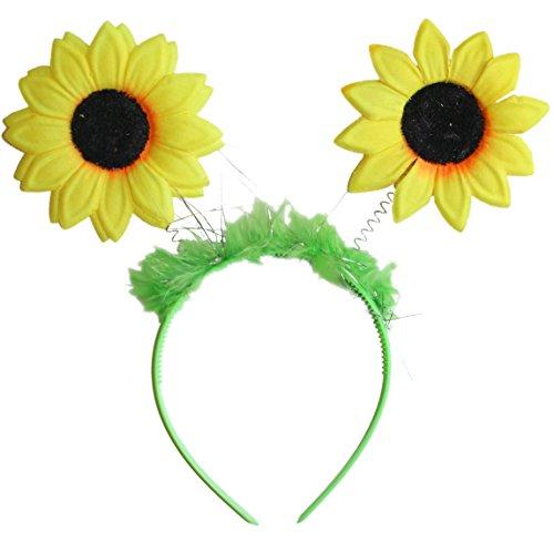 Haarreif Reif in grün mit Sonnenblumen für Sonnenblumen Kostüm (Sonnenblumen Kostüme)