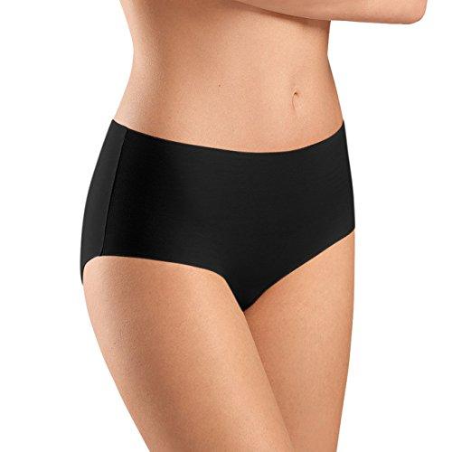 Hanro Damen Taillenslip Invisible Cotton, Black, 42/44 (Herstellergröße: M) (Bikini Intime Unterwäsche)