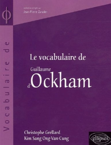 Le vocabulaire de Guillaume d'Ockham