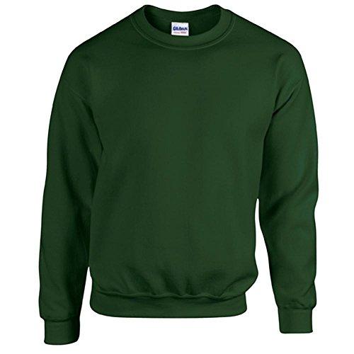 Gildan Heavy Blend Erwachsenen Crewneck Sweatshirt 18000 M, Forest Green (Crewneck Pullover Blend)