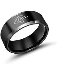 Sorella'z Mens Metal Black Naruto Ring