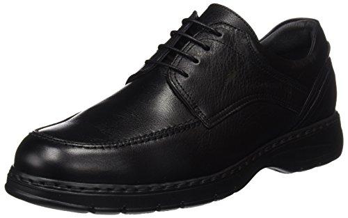 Fluchos Crono, Zapatos de Cordones Derby para Hombre, Negro Black, 43 EU