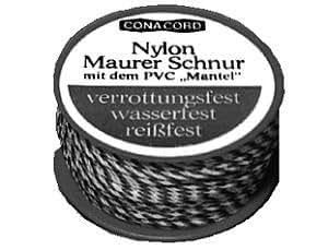 Maurerschnur rot//ws Nylon 50m 1,1mm