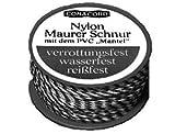 Maurerschnur rot/ws. 50m 1,1mm, Nylon