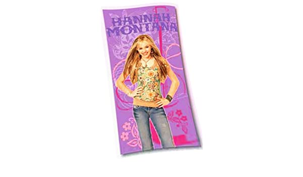 Hannah Montana Velour Strandtuch 75x150cm Handtuch Strandlaken Badetuch