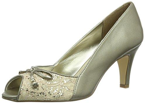 Lotus Nicoletta Womens Peep Toe Court Shoes 6 Light Gold