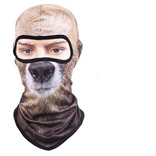 VFDMNSVDSFD Tier Maske trocken atmungsaktive Maske Persönlichkeit outdoor Sun cs Tier Maske Hut maskiert, Black Bear