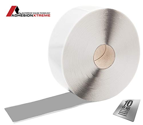 AX© 2Sided Doppelseitiges 75mm*6m Butylklebeband Doppelseitiges Teichfolienklebeband Versiegelungsband wasserdicht selbstklebend wetterfest beidseitig klebend