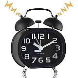 Retro Twin Bell Matin Réveil - à Double Cloche silencieuse Horloge avec...