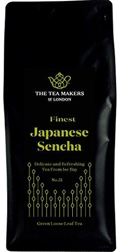 The Tea Makers of London Japanischer Sencha Tee Grüner Tee von prämiertem Teeshop Geschenkidee Teekenner, 1er Pack (1 x 500 g)