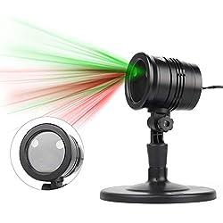 SALCAR LED Projecteur Noël Exterieur Etanche, Infinitoo Projecteur de Lumière à LED avec Télécommande RF (Rouge + Vert)