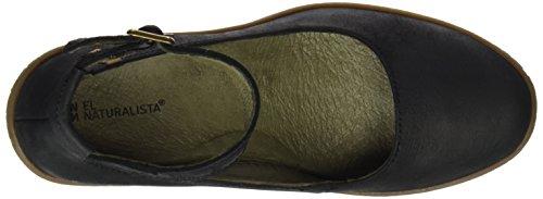 El Naturalista Nf76 Pleasant Lichen, Chaussures avec Bride à la Cheville Femme Noir (Black)