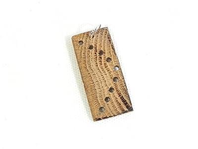 Pendentif en bois, fait main en bois de récupération, chêne massif