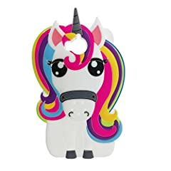Idea Regalo - Cover Huawei Nova Young / Y5 2017 Custodia, MoEvn 3D Unicorno Fumetto Gatto Morbida di TPU Silicone Ultra Sottile Flessibile Sottile Opaco Gel Antiurto Protezione Case per Huawei Nova Young / Y5 2017 / Y6 2017 (5,0 pollici) Smartphone - Nero