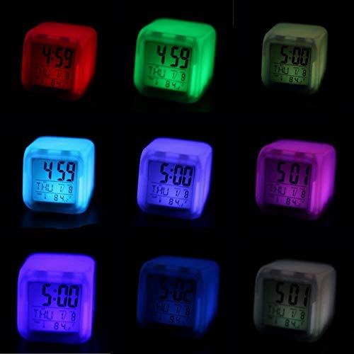 Snner niños Reloj Despertador Despertador luz LED