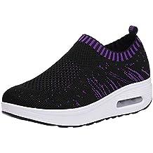 ALIKEEY La Mujer Casual Zapatos Deportivos con Suela Gruesa Malla Exterior Cojin De Aire Zapatos Zapatillas