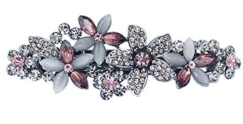 SaySure - Flossy Opals Crystal Flower Rhinestone Hair Clip