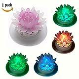 Schwimmende Solar-Lichter für Gartenteich oder Pool, LED, wasserdicht, Garten-Dekoration, plastik, Lotus 1.20volts