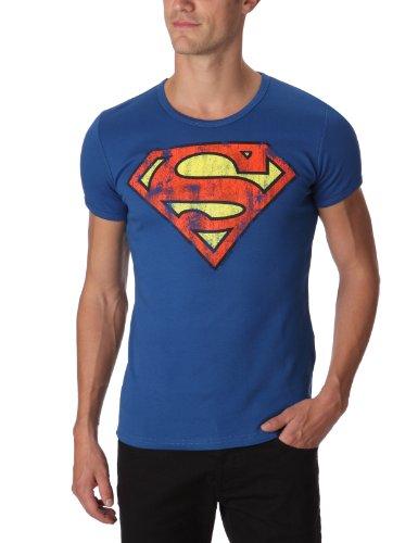 Logoshirt - Maglietta Superman, Manica corta, Borsa Unisex, Blu (Azure Blue), Medium