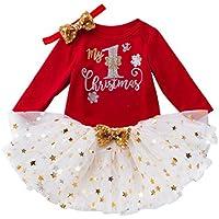 Cosplay Cumpleaños Vestido de Princesa Niño pequeño Bebé Niños Niñas Navidad Día Romper Tops Tutu Dress Hairband Set