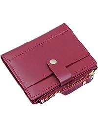 487f520c9 Toamen Toamen Monedero De Mujer Tarjeta De Monedero Con Cremallera PequeñA  Moneda Color Caramelo Paquete
