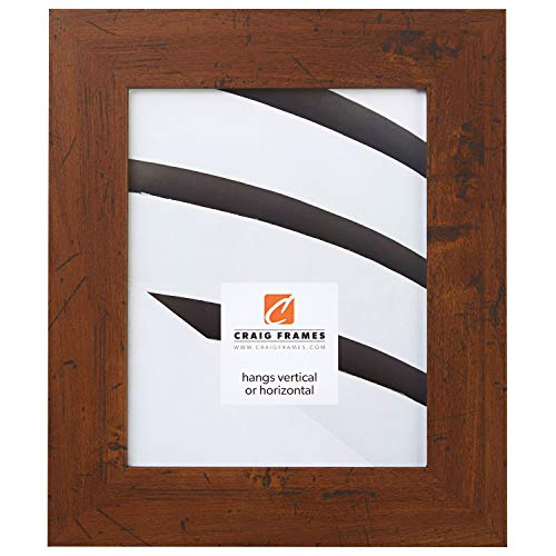 (Craig Frames fm74dkw 8von 25,4cm Bild/Poster Rahmen, Glatte Grain-Finish, 2Zoll Breit, Dunkelbraun)