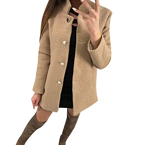 i-uend 2019 Damen Mantel, Lang Mantel Lose Sweatshirt mit Kapuze Langärmelige Einfarbige Strickjacke Jacke Warmen Winter Parka Outwear