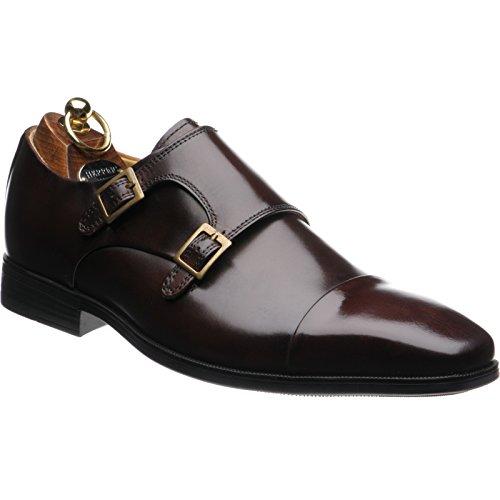 aringa-bristol-doppia-scarpe-di-monaco-in-vitello-marrone-nero-brown-calf-44-eu