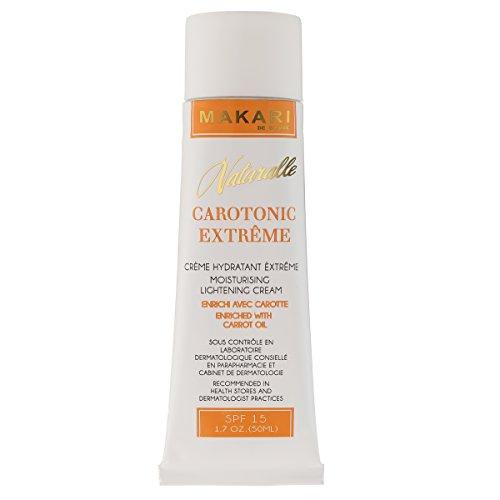 Makari Naturalle Carotonic Extreme Lightening Gesichtscreme 1.7oz - Feuchtigkeitsspendende & Toning Creme mit Karottenöl & SPF 15 - Anti-Aging & Whitening Behandlung für dunkle Flecken, - Makari De Suisse