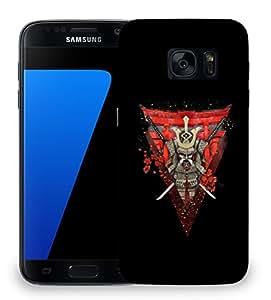 Snoogg Warrior Samurai Designer Protective Back Case Cover For SAMSAMSUNG S7