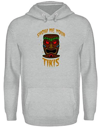 Show Me Your Tikis - Totem Face - Unisex Kapuzenpullover Hoodie -XL-Sportgrau Heather -