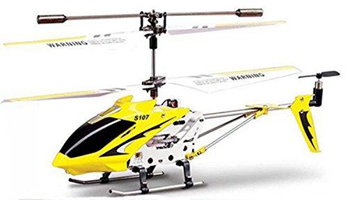 *Ollivan® Ursprüngliche Syma S107G S107 3.5CH Mini RC Hubschrauber mit Gyro Funkfernsteuerung Indoor Outdoor Drohne mit Aluminiumrahmen errichtet im Gyroskop(Syam Gelb)*