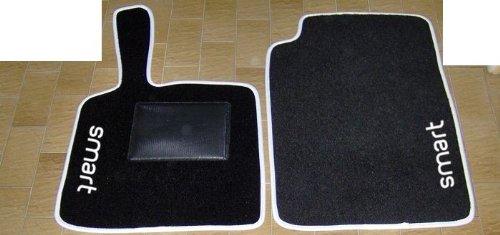 SMART FORTWO 2007, alfombrillas de coche, Set Completo de Alfombrillas a medida alfombras de hilo para bordar blanco