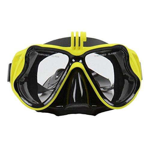 Homyl Tauchmaske Unisex Taucherbrille Schnorchelmaske mit Kamera Halterung für Unterwasser...