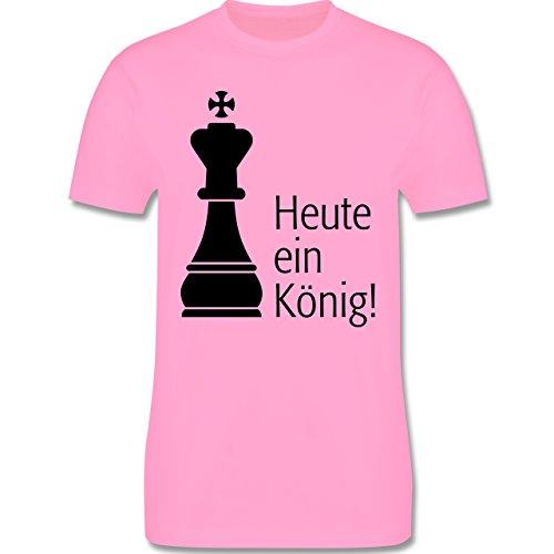 JGA Junggesellenabschied - Heute ein König - Herren Premium T-Shirt Rosa