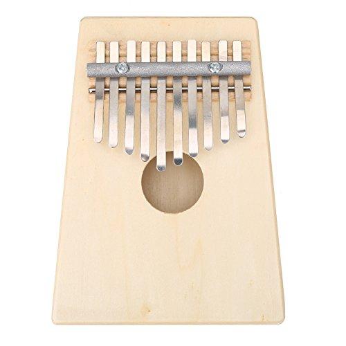 Tragbare 10 Schlüssel Daumenklavier Finger Kalimba für Kinder Musikinstrument ( Farbe : Burlywood )