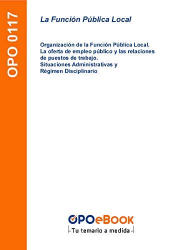 La Función Pública Local: Organización de la Función Pública Local ...