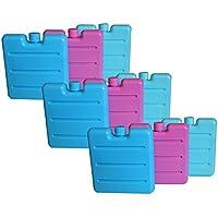 All de around24® ® Acumuladores para pequeñas Bolsa nevera o fiambrera. Frío en tres colores surtidos Rosa, Azul y verde. Reutilizable, 3