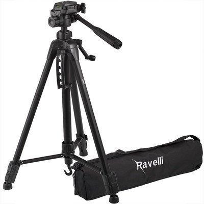 Ravelli APLT4Digital Camera Tripod (Black 952.5g, Aluminium, Plastic, black)