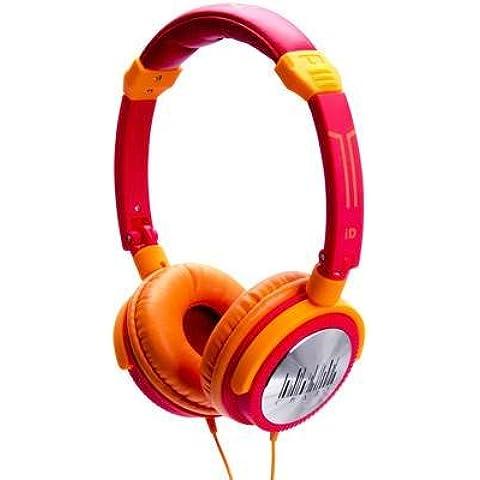 Casco Lifestyle rojo/naranja iDance Crazy 301