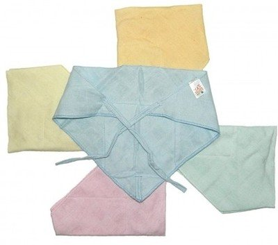Baby Muslin Traingle Nappy - Mix Colors, Small