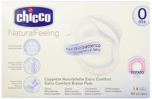 Chicco - Coppetta Assorbilatte con Antibatterico - 60 Pezzi