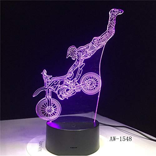 Nacht licht Dirt Bike Shape LED Nachtlicht Motocross Motorrad 3D Acryl LED 7 Farbe Nachtlicht Touchs