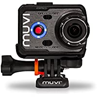Veho VCC-007-K2PRO Muvi K-Series K-2 Pro | 4k | 1080p | HD | WiFi | Camcorder | Action Camera | Sports Camera | Action Cam |  with 12MP Camera, Protective Silicone Case, Smart LCD Touch Detachable Screen and Carry Case