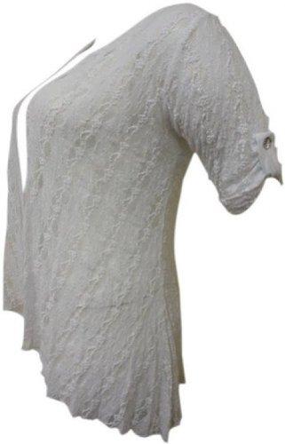 plus la taille dentelle diamonte détail cardigan femmes boléro en dentelle haussement haut white