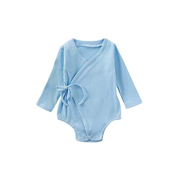 Conjuntos de Mameluco para niños de Halloween Bebé recién Nacido bebé niños niñas Manga Larga sólido Kimono Mameluco… 4
