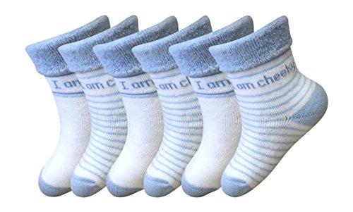 6 Pack Baby baumwollmischung, nett frechen Socken Größe (6-12 Monate)